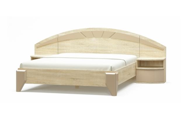 Ліжко ламель 160/ Тумба приліжкова